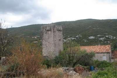 Brijesta Tower 1617 AD Pelješac Dubrovnik