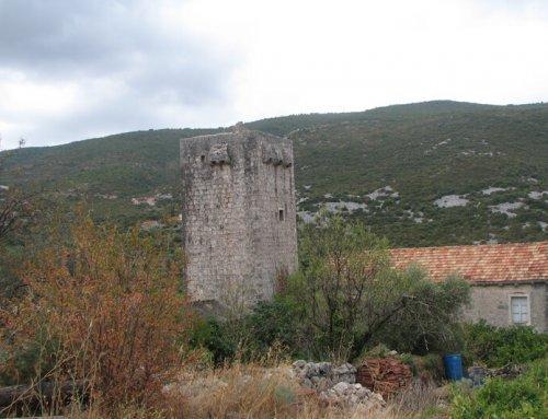 Visit Brijesta Tower from 1617 A.D. Pelješac, Dubrovnik History