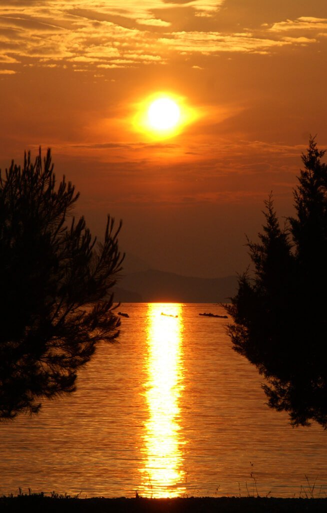Camping Holidays Brijesta sunset