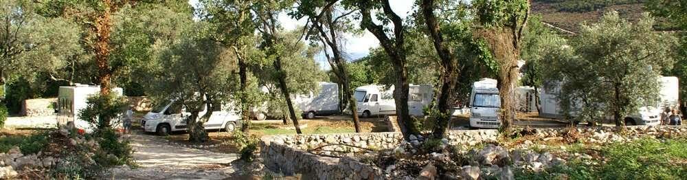 Campingplatz in Brijesta, Peljesac bei Dubrovnik, Kroatien