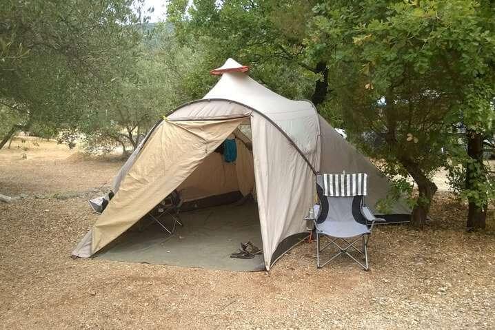 tent camping Brijesta Croatia