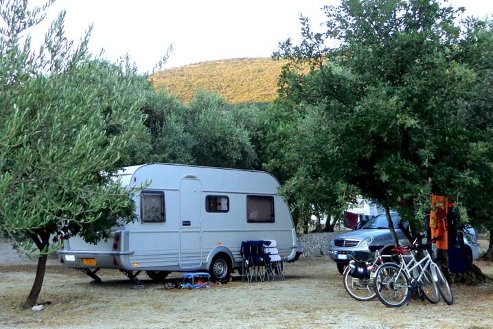 Caravans Trailers camping Brijesta Croatia